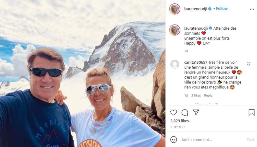 Christian Estrosi et Laura Tenoudji ce dimanche 14 février sur Instagram