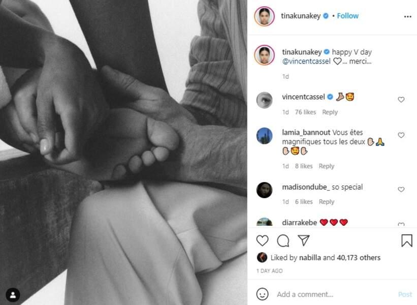 Tina Kunakey a dévoilé une rare photo de sa fille, Amazonie, fruit de son amour avec Vincent Cassel sur Instagram