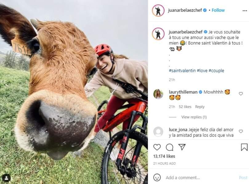 Un amour vache : Juan Arbelaez a rendu un hommage amusant à Laury Thilleman ce dimanche 14 février pour la Saint-Valentin