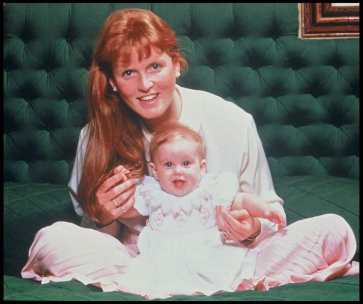 Sarah Ferguson et sa fille Beatrice en 1989.
