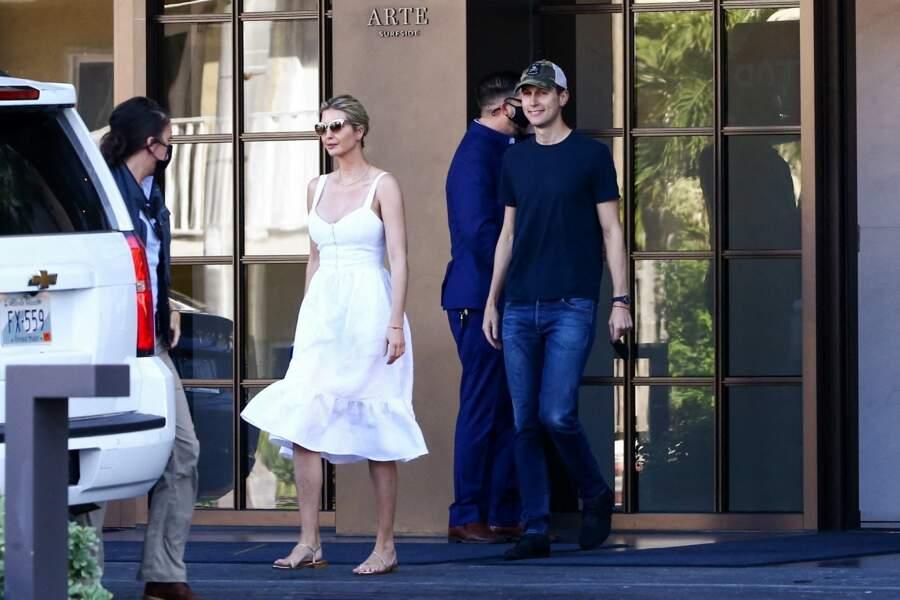 Ivanka Trump a opté pour une jolie robe à volant de couleur blanche