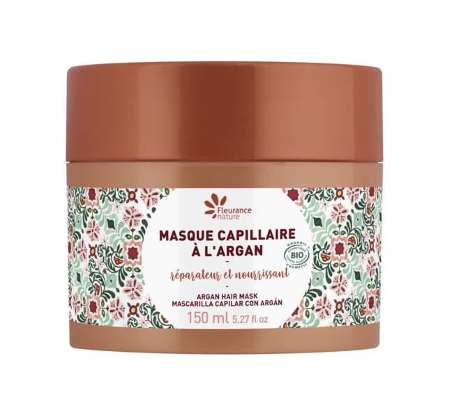 Masque capillaire bio à l'Argan, Fleurance Nature, 9€90