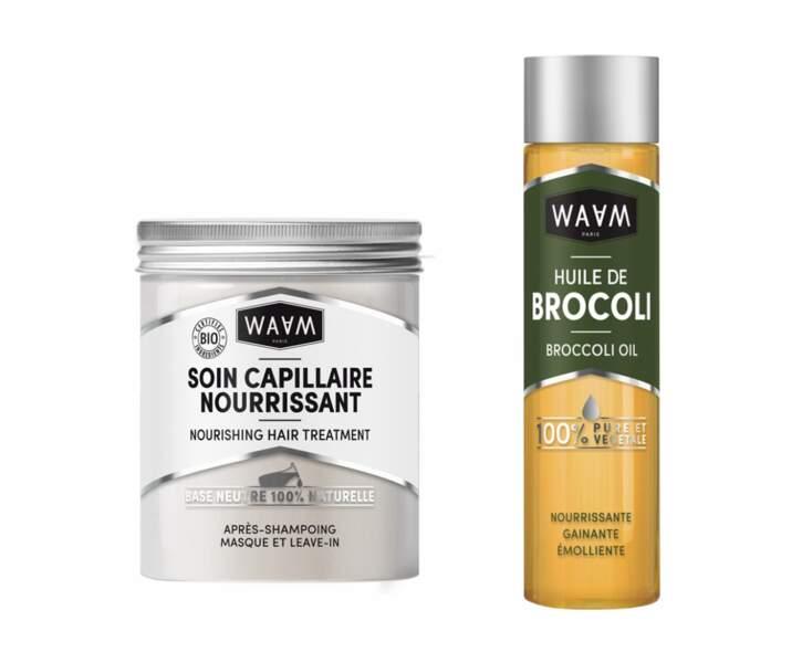 La Base Soin Capillaire Nourrissant et huile de brocoli Waam, et huile de pépins de raisin 11€ l'un