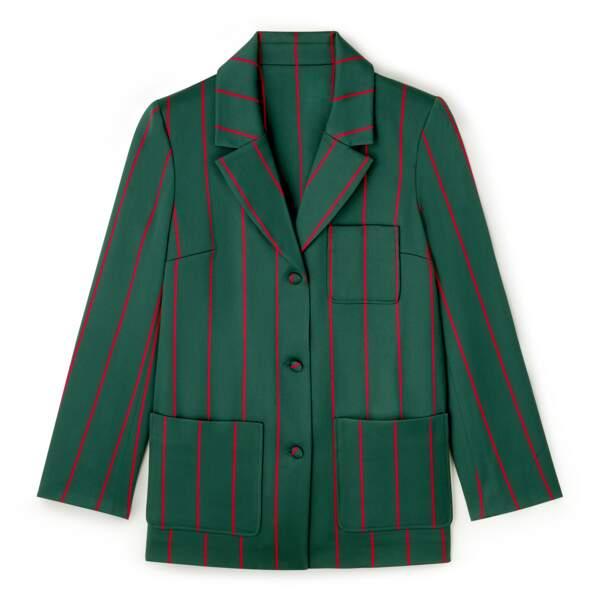 Veste de costume rayée DA/DA Diane Ducasse x Monoprix, 89 €