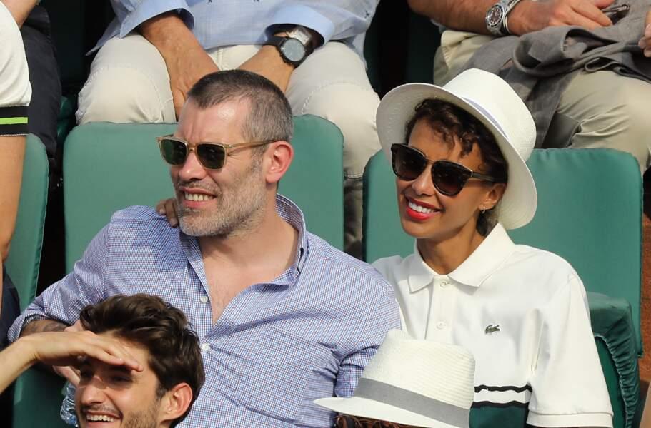 Sonia Rolland et Jalil Lespert à Roland-Garros en 2018