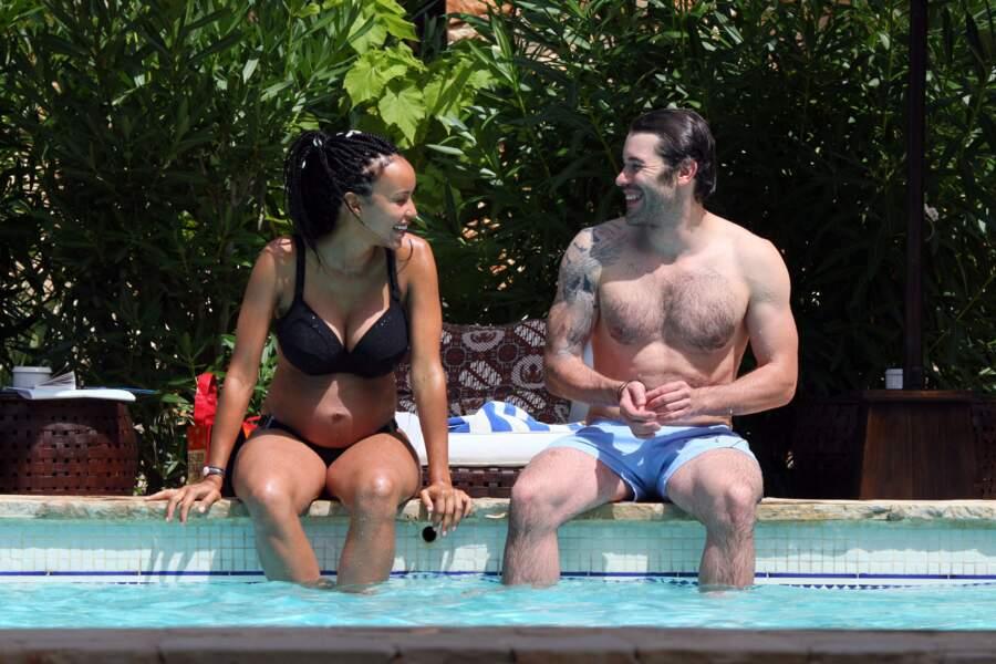 Sonia Rolland et Jalil Lespert à Ibiza en 2010.