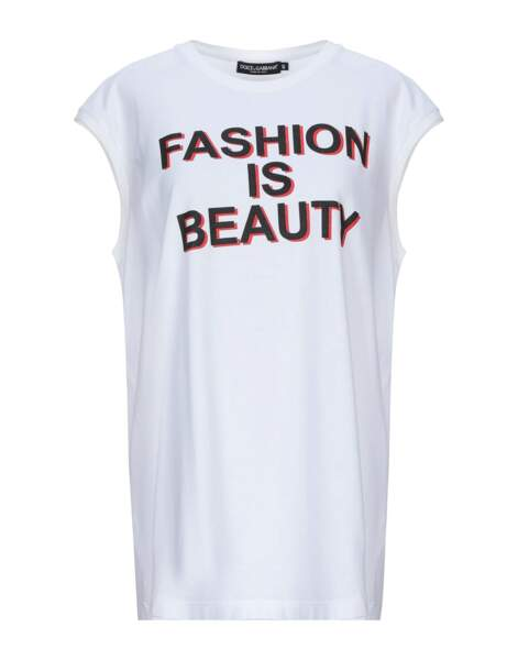 Tee-shirt en coton, 137 € Dolce & Gabbana by yoox