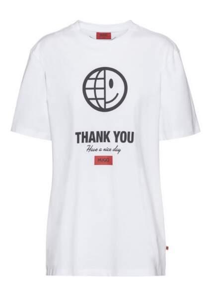 Tee-shirt en coton Thanks You, 69,95 €, Hugo