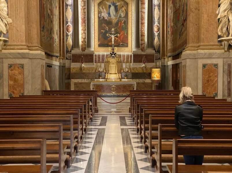 Jalil Lespert et Laeticia Hallyday au Vatican.