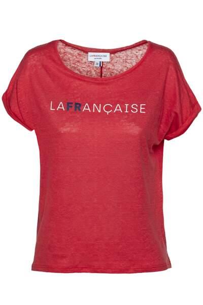 Tee-shirt en lin, 75 €, La Française par B. Solfin