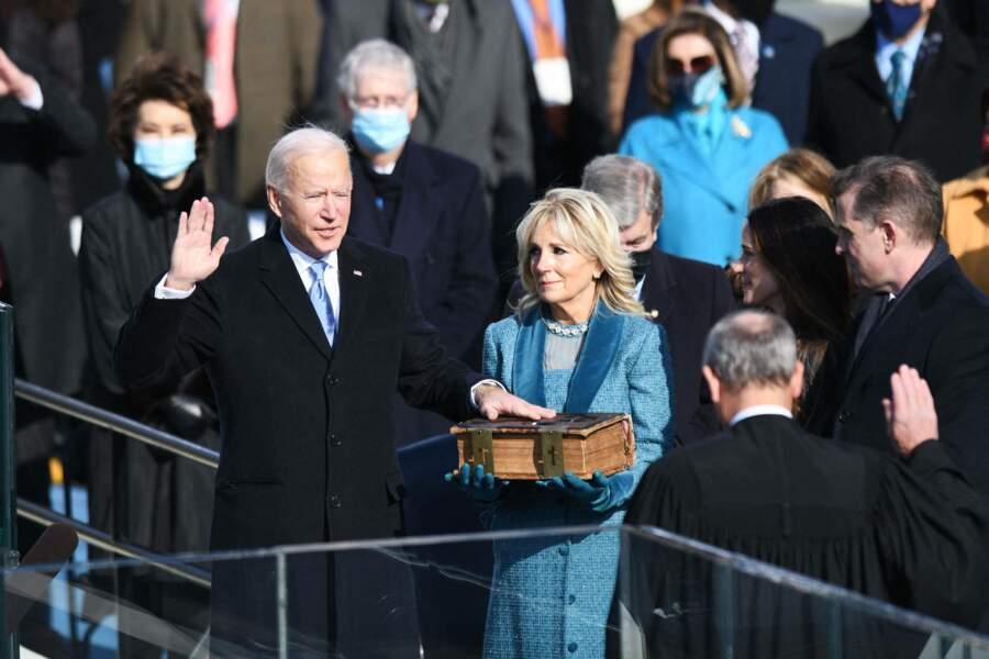 Joe Biden et son épouse Jill en janvier 2021