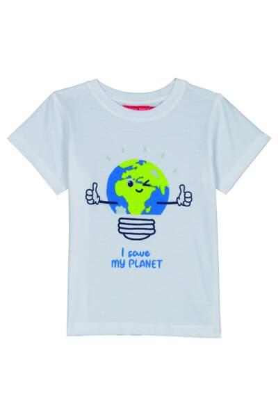 Tee-shirt en coton bio, 4,95 € Tissaia de E.Leclerc .