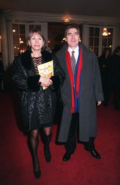 Serge Lama et son épouse Michèle à Paris en 1999