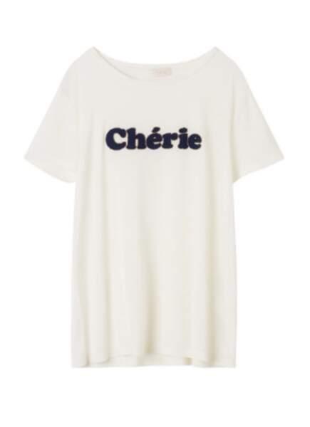 Tee-shirt en coton Chérie, 65 €, Pablo