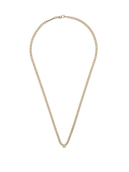 Collier à perles en or 14 carats et diamants, 1166€, Zoë Chicco sur MatchesFashion