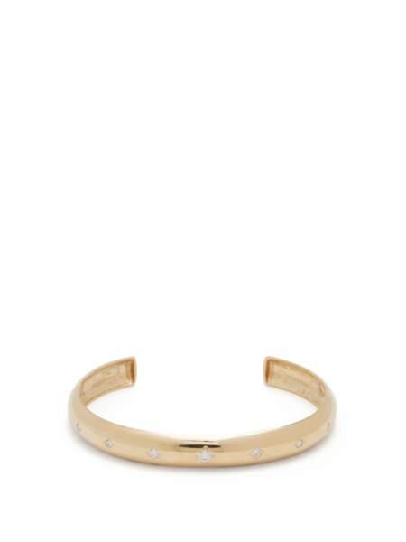 Bracelet en or 14 carats et diamants, 2886€, Zoë Chicco sur MatchesFashion