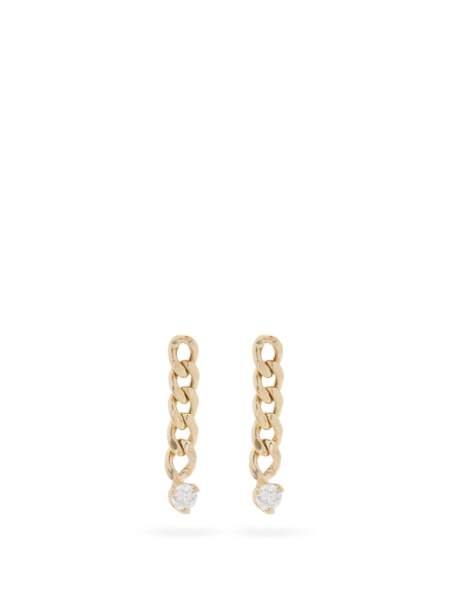 Boucles d'oreilles en or 14 carats et diamants, 474€, Zoë Chicco sur MatchesFashion