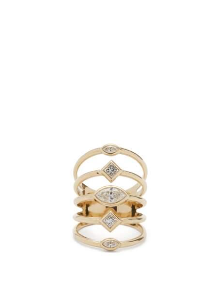 Bague en or 14 carats et diamants, 5095€, Zoë Chicco sur MatchesFashion