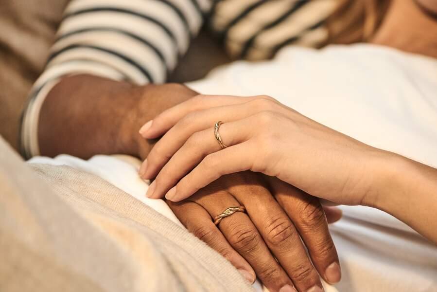 Les anneaux Calidus à 970€ sont disponibles pour homme et femme sur Dfly Paris