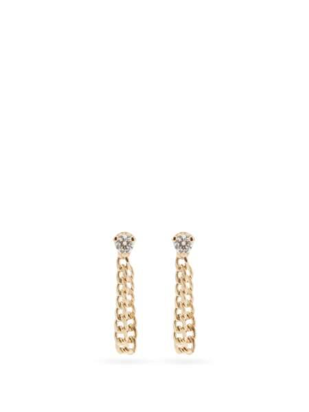 Boucles d'oreilles en or 14 carats et diamants, 477€, Zoë Chicco sur MatchesFashion