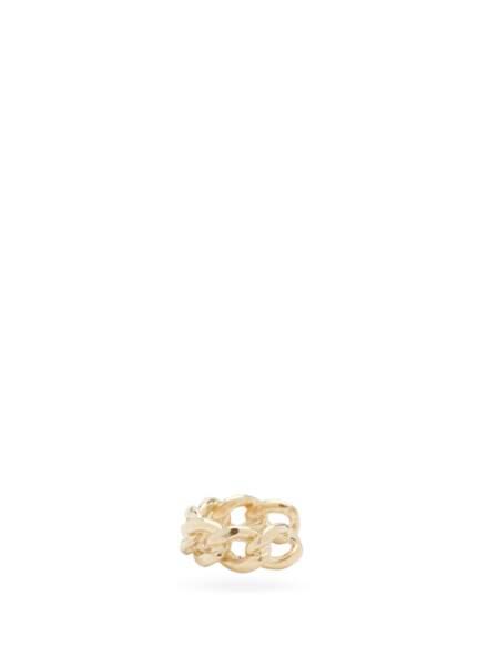 Bijou d'oreille en or 14 carats à chaîne gourmette, 313€, Zoë Chicco sur MatchesFashion