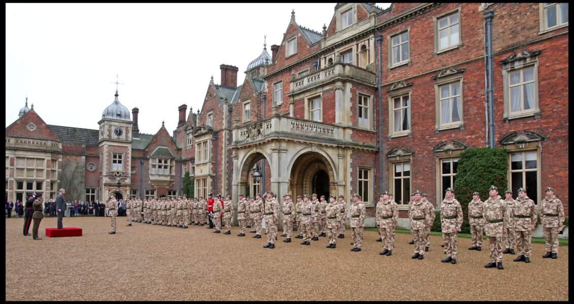 La maison royale de Sandringham, résidence de la reine Elizabeth II