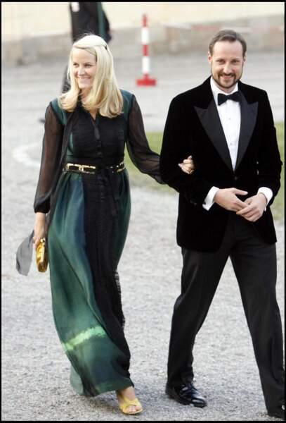 Haakon et Mette Marit de Norvège au 60ème anniversaire du roi Carl Gustav de Suède