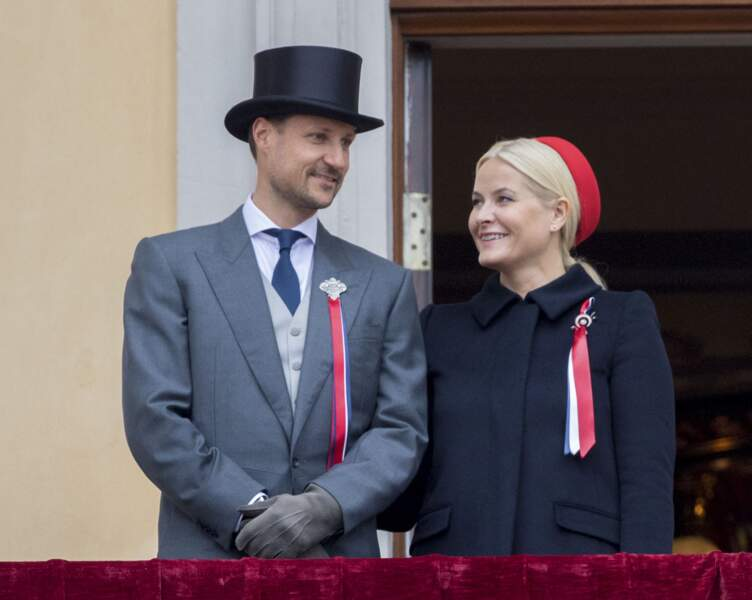 Le prince Haakon et la princesse Mette-Marit de Norvège  le 17 mai 2017