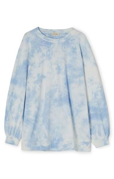 Sweat bleu ciel, American Vintage, 110 €