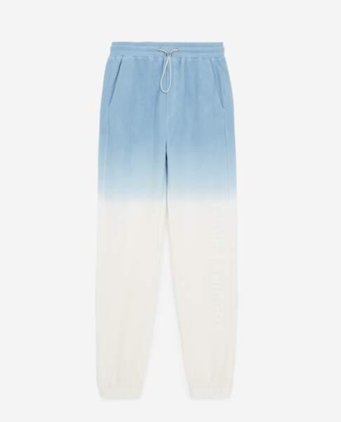 Jogging bleu effet tie and dye, The Kooples, 160 €
