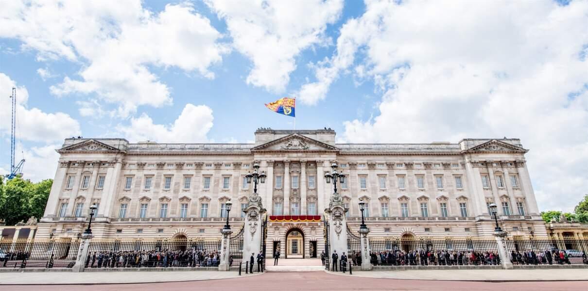Le palais de Buckingham pendant la parade Trooping the Colour 2019, pour le 93ème anniversaire de la reine Elisabeth II