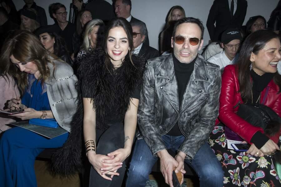 Anouchka et Anthony Delon au défilé de mode Elie Saab, à Paris le 3 mars 2018