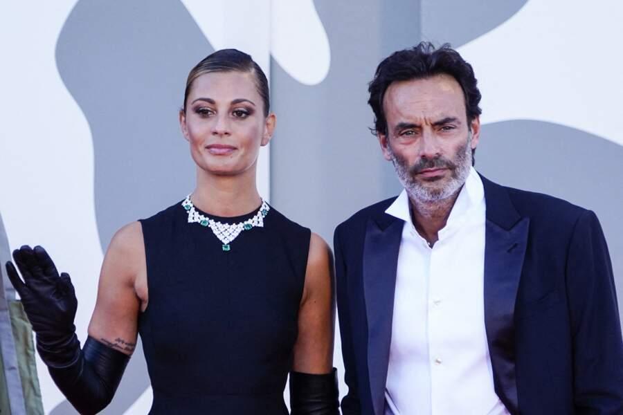 Anthony Delon et sa compagne Sveva Alviti lors de la cérémonie d'ouverture du festival international du film de Venise le 2 septembre 2020