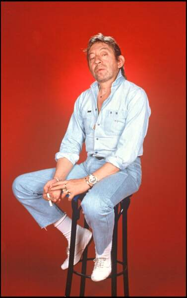 Le total look denim de Serge Gainsbourg
