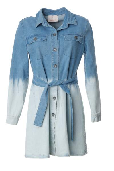 Robe chemise en denim tie and dye, Imprevu, 120 €