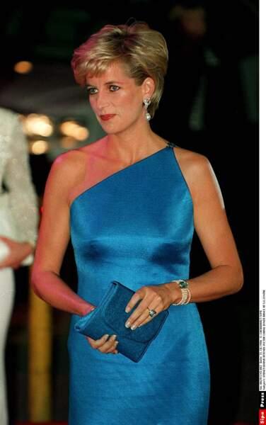 La princesse Diana assiste le 31 octobre 1996 au dîner de charité Victor Chang, à Sydney.