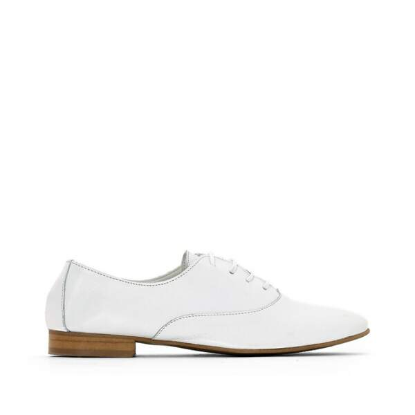 Derbies en cuir souple, 48,99€, La redoute collections