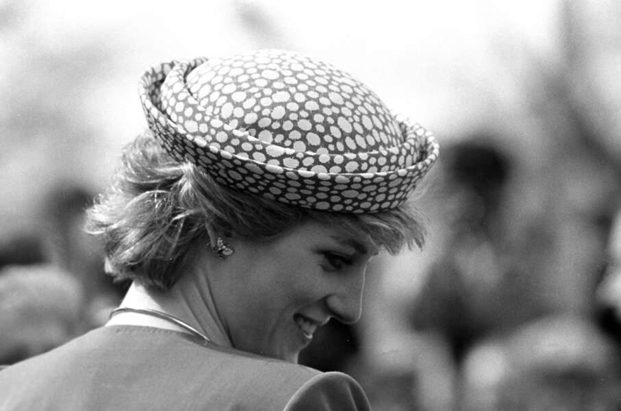 La princesse Diana, lors d'un tour royal au Canada, en mai 1986.