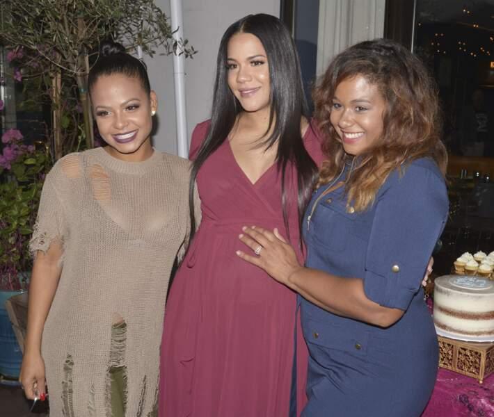 Christina Milian et ses soeurs Elizabeth et Danielle