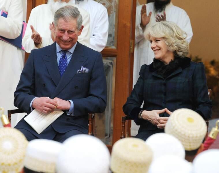 Le prince Charles et Camilla Parker-Bowles à la mosquée Dawwodi Bohra