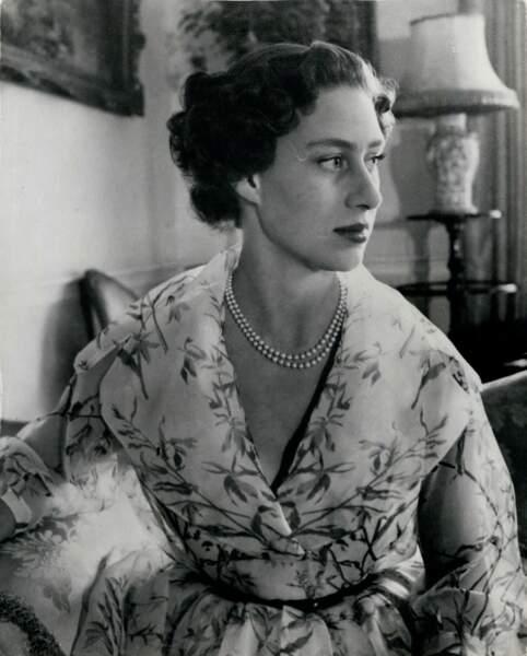 La princesse Margaret lors de son 24ème anniversaire à la Clarence House à Londres. Le 21 août 1951