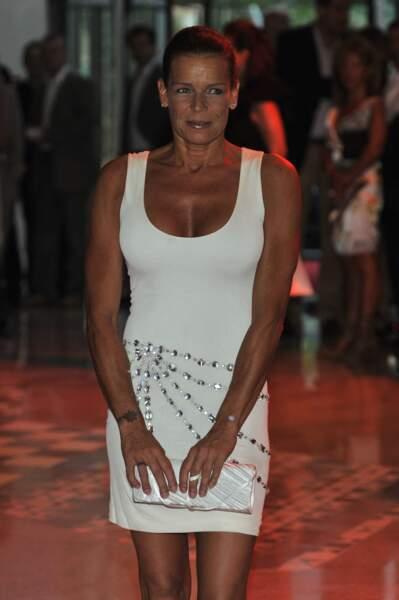 Stéphanie de Monaco lors d'un gala de bienfaisance au sporting club de Monaco.