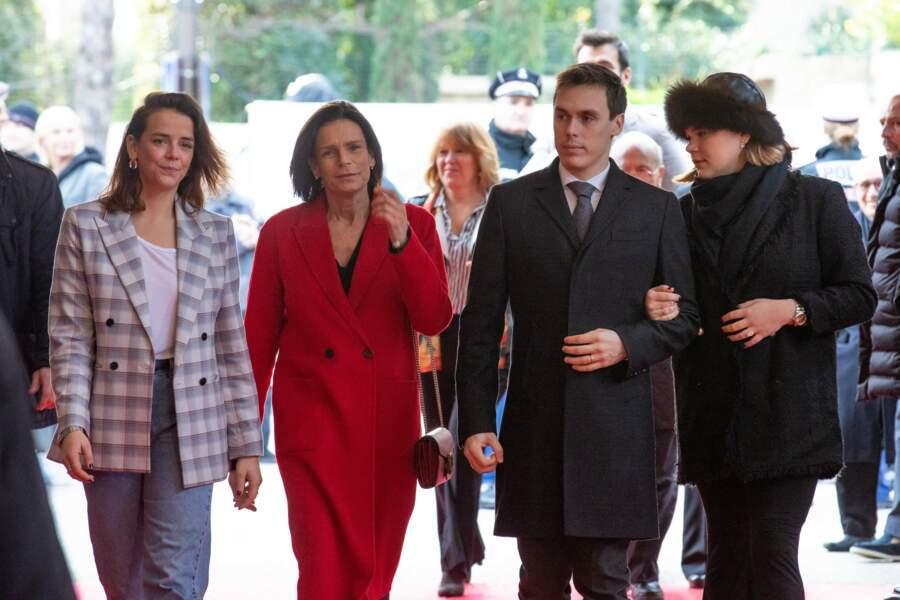 La princesse Stéphanie de Monaco et ses enfants, Louis Ducruet, Pauline Ducruet et Camille Gottlieb