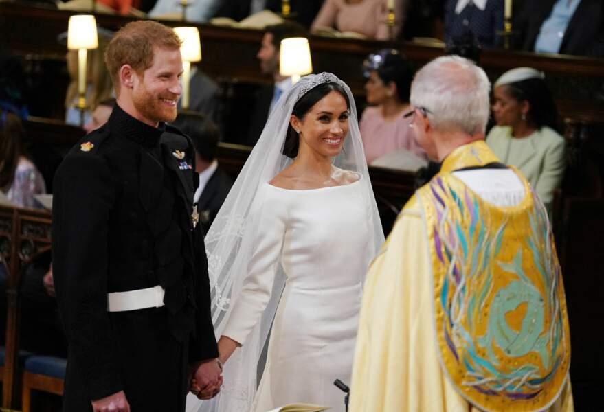 Cérémonie de mariage du prince Harry et de Meghan Markle en la chapelle Saint-George au château de Windsor, Royaume Uni, le 19 mai 2018.