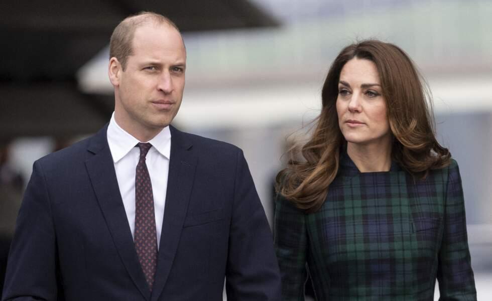 Le prince William et Kate Middleton arrivent à Dundee pour l'inauguration du musée du design V&A, Ecosse le 29 janvier 2019.