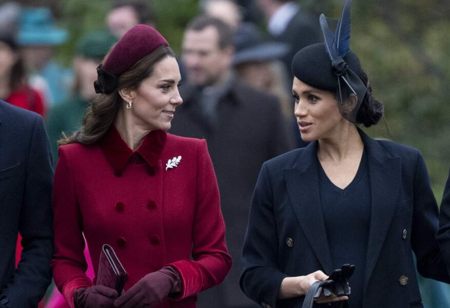 La famille royale britannique se rend à la messe de Noël à l'église Sainte-Marie-Madeleine à Sandringham, le 25 décembre 2018.