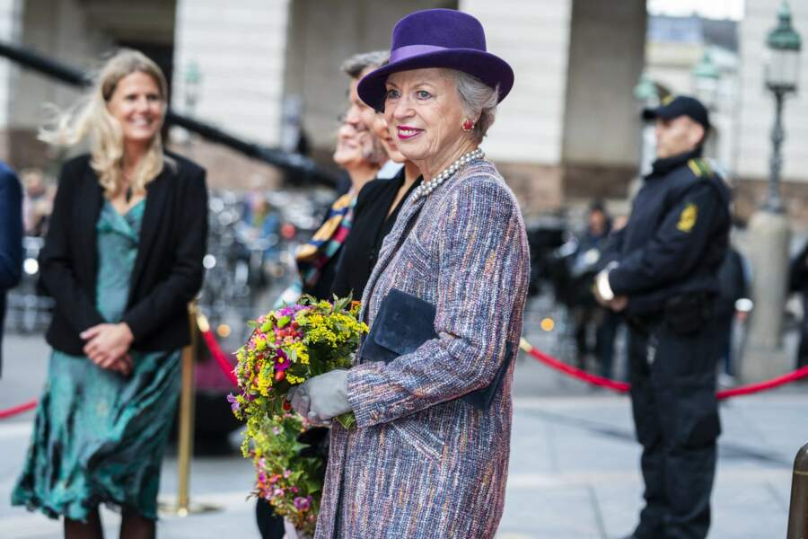 La princesse Benedikte de Danemark à l'ouverture du parlement, à Copenhague, le 6 octobre 2020.