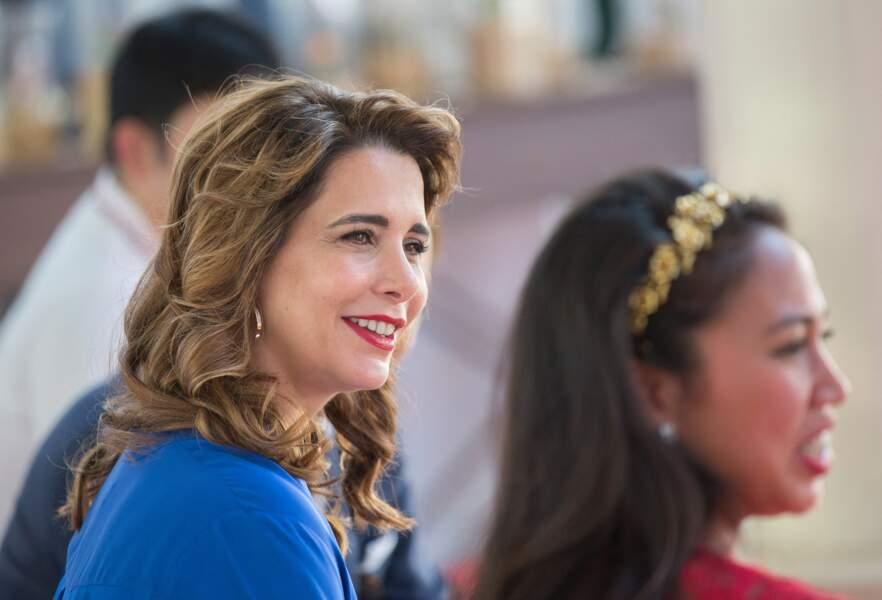 La princesse Haya bint al-Hussein de Jordanie assiste au Cartier International Dubai Polo Challenge à Dubaï, Emirates Arabes Unis, le 5 novembre 2016.