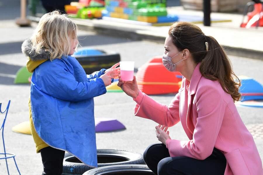 Kate Middleton dans une école située à Stratford, à Londres