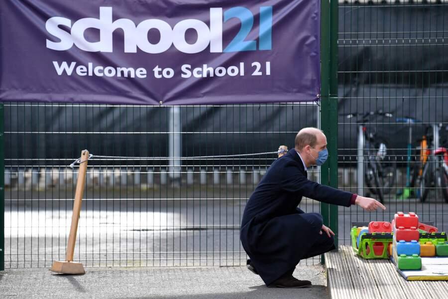 Le prince William lors de sa première sortie officielle après les déclarations de Meghan Markle et Harry